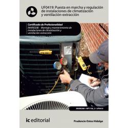 Puesta en marcha y regulación de instalaciones de climatización y ventilación-extracción UF0419