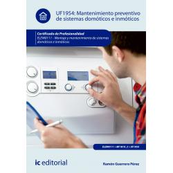 Mantenimiento preventivo de sistemas domóticos e inmóticos UF1954