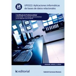 Aplicaciones informaticas de baServicios socioculturales de datos relacionales - UF0322