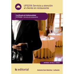 Servicio y atención al cliente en restaurante - UF0259