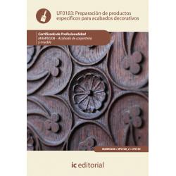 Preparacion de productos especificos para acabados decorativos - UF0183