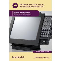 Facturación y cierre de actividad en restaurante - UF0260