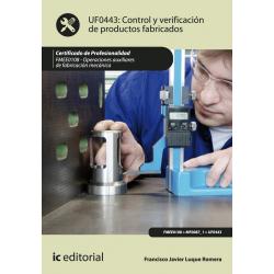 Control y verificación de productos fabricados UF0443
