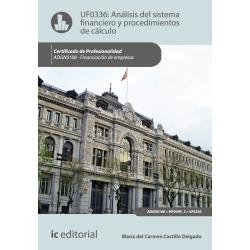 Analisis del sistema financiero y procedimientos de calculo - UF0336