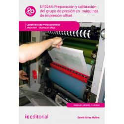 Preparación y calibración del grupo de presión en máquinas de impresión  offset UF0244