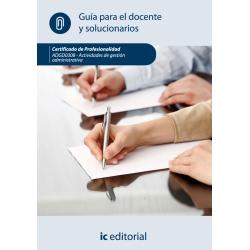 Guía para el docente y solucionarios. ADGD0308