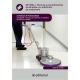 Técnicas y procedimientos de limpieza con utilización de maquinaria