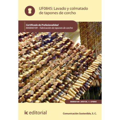 Lavado y colmatado de tapones de corcho UF0845