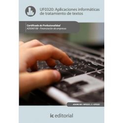 Aplicaciones informáticas de tratamiento de textos. ADGN0108