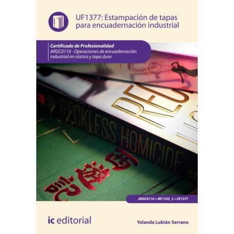 Estampación de tapas para encuadernación industrial UF1377