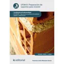 Preparación de  soportes para revestir UF0643
