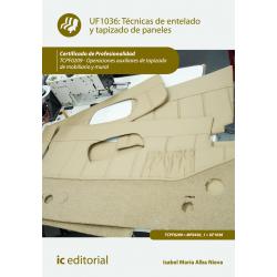 Técnicas de entelado y tapizado de paneles UF1036