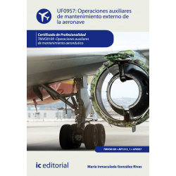 Operaciones auxiliares de mantenimiento externo de la aeronave UF0957
