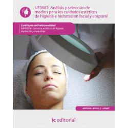 Análisis y selección de medios para los cuidados estéticos de higiene e hidratación facial y corporal UF0087