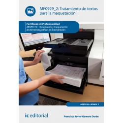 Tratamiento de textos para la maquetación MF0929_2