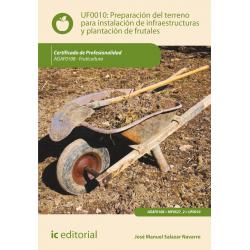 Preparación del terreno para instalación de infraestructuras y plantación de frutales UF0010