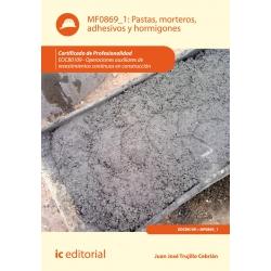 Pastas, morteros, adhesivos y hormigones. EOCB0109