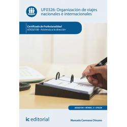 Organización de viajes nacionales e internacionales UF0326