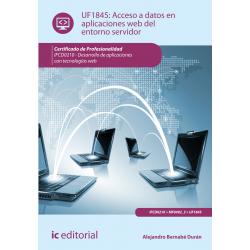 Acceso a datos en aplicaciones web del entorno servidor UF1845