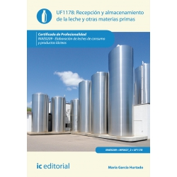 Recepción y almacenamiento de la leche y otras materias primas. INAE0209