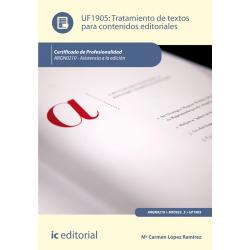 Tratamiento de textos para contenidos editoriales UF1905