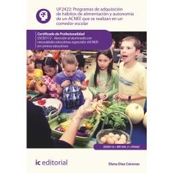 Programas de adquisición de hábitos de alimentación y autonomía de un ACNEE que se realizan en un comedor escolar UF2422