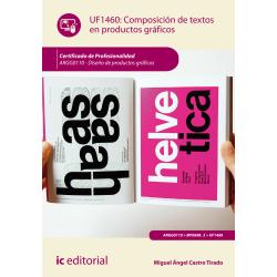 Composición de textos en productos gráficos UF1460
