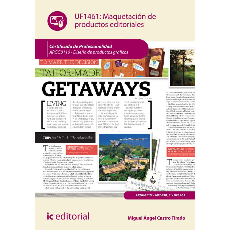 libro de maquetación de productos editoriales uf1461