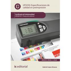 Especificaciones de calidad en preimpresión UF0250