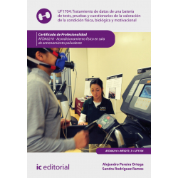 Tratamiento de datos de una batería de tests, pruebas y cuestionarios de la condición física