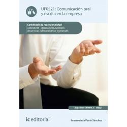 Comunicación oral y escrita en la empresa. ADGG0408