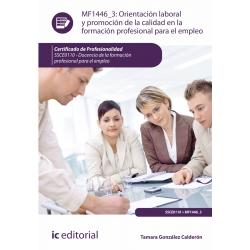 Orientación laboral y promoción de la calidad en la Formación Profesional para el Empleo. SSCE0110