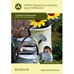 Operaciones culturales, riego y fertilización - UF0003