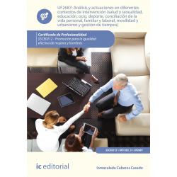 Análisis y actuaciones en diferentes contextos de intervención (salud y sexualidad, educación, ocio, deporte...) UF2687
