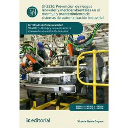 PRL y medioambientales en  el montaje y mantenimiento de sistemas de automatización industrial UF2236