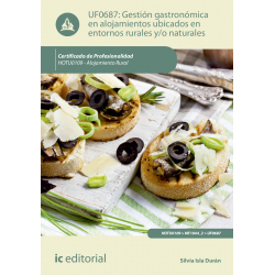 Gestión gastronómica en alojamientos ubicados en entornos rurales y/o naturales UF0687