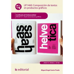 Composición de textos en productos gráficos. ARGG0110