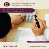 Elaboración del presupuesto editorial. ARGN0109