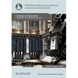 Análisis de productos y servicios de inversión - UF0338