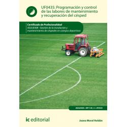Programación y control de las labores de mantenimiento y recuperación del césped UF0435