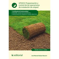 Programación y control de las operaciones de instalación de césped UF0433