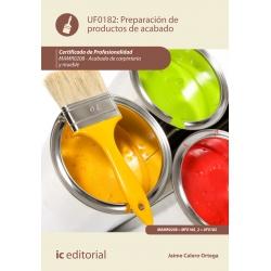 Preparación de Productos de Acabado. MAMR0208
