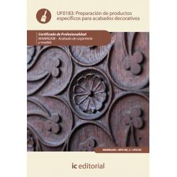 Preparación de productos específicos para acabados decorativos. MAMR0208