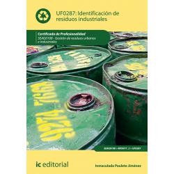 Identificación de residuos industriales UF0287