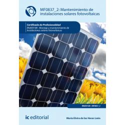 Mantenimiento de instalaciones solares fotovoltaicas (2º ed) - MF0837_2