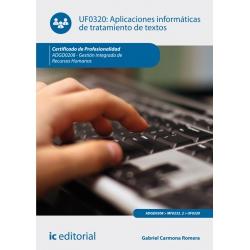Aplicaciones informáticas de tratamiento de textos. ADGD0208