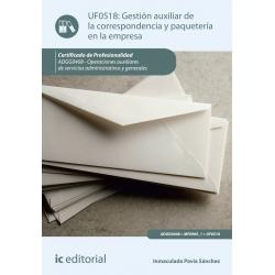 Gestión auxiliar de la correspondencia y paquetería en la empresa. ADGG0408
