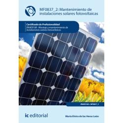 Mantenimiento de instalaciones solares fotovoltaicas. ENAE0108