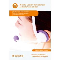 Gestión de la atención al cliente/consumidor UF0036