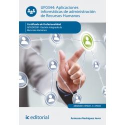 Aplicaciones informáticas de administración de Recursos Humanos. ADGD0208